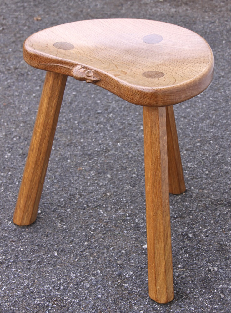 Robert Mouseman Thompson Oak Milking Stool