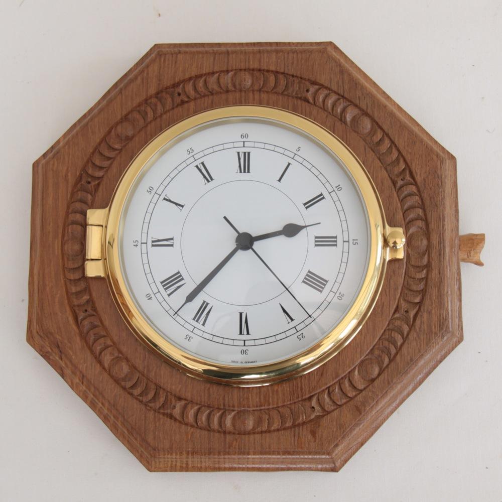 Malcolm Pipes Foxman Oak 10 Bespoke Octagonal Wall Clock