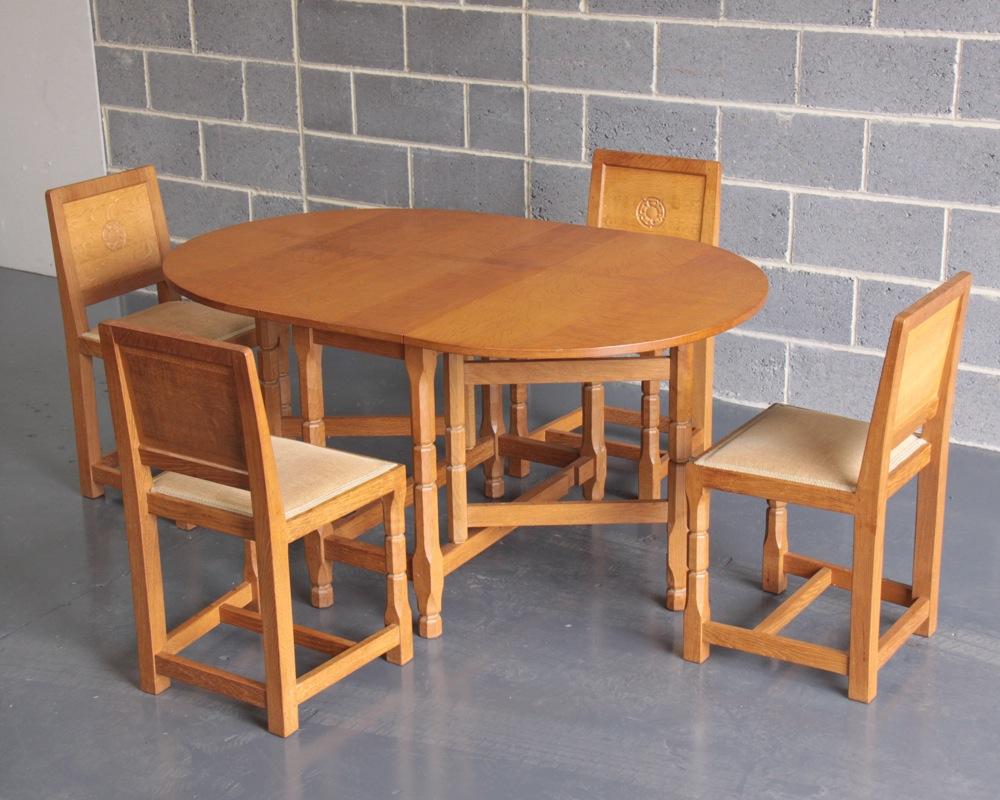 Malcolm pipes foxman oak gateleg dining set - Gateleg table with chairs ...