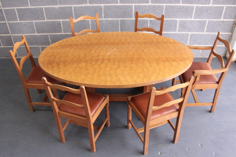 Don Craven Foxman Oak Dining Table And 6 Chairs