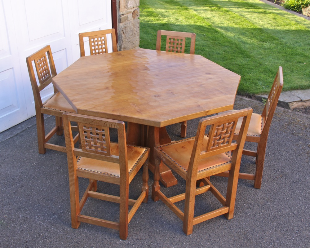 Albert Jeffray Eagleman 4 6 Oak Octagonal Dining Set