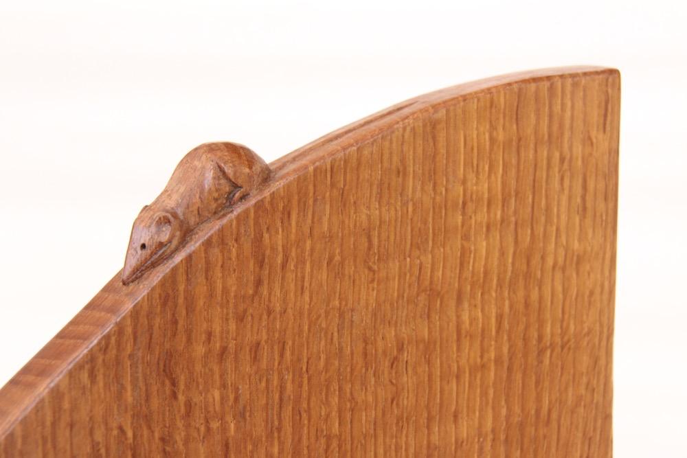 Robert Mouseman Thompson Oak Corner Shelf