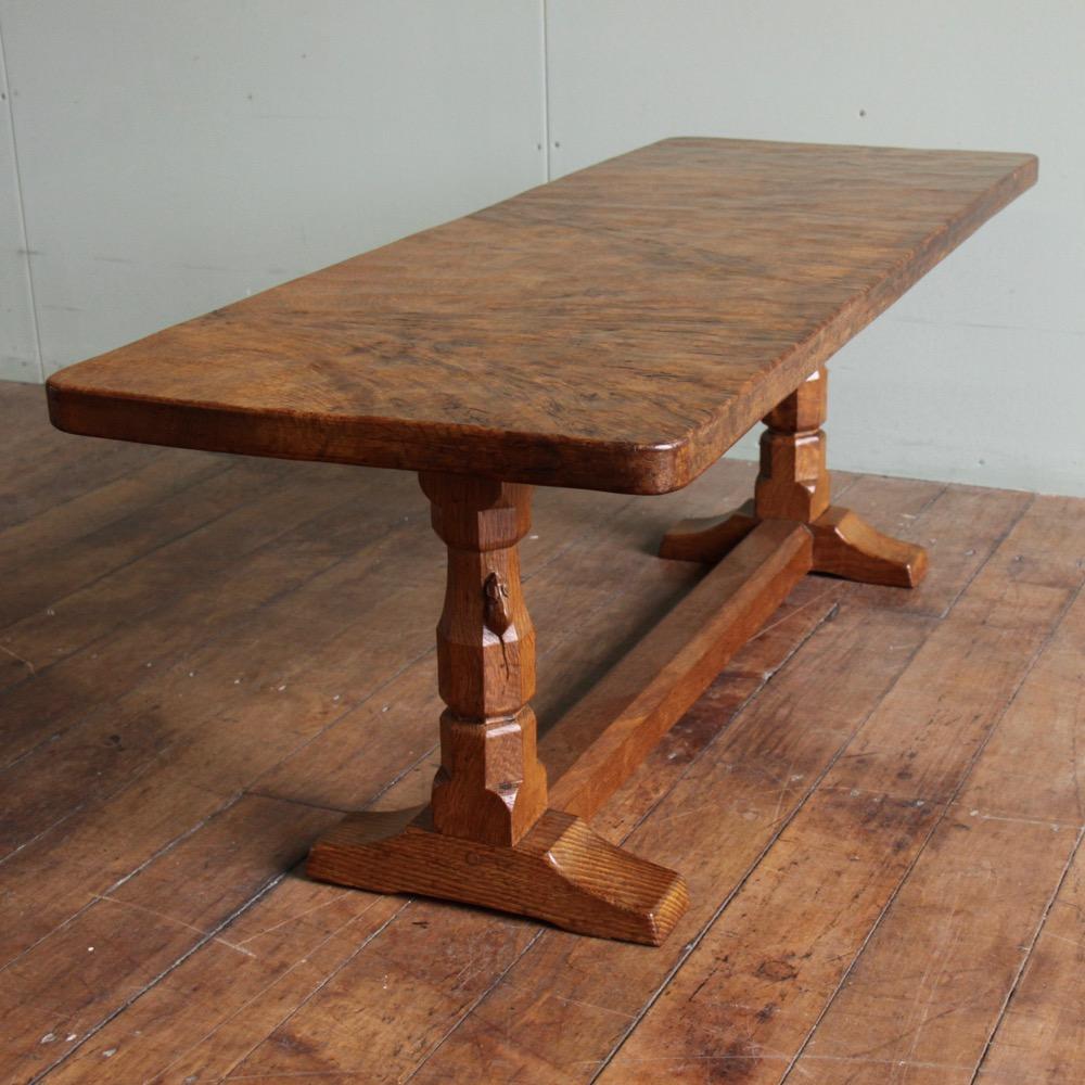 Robert Mouseman Thompson Rare Burr Oak 4 Coffee Table