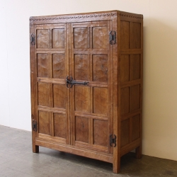 Robert 'Mouseman' Thompson Very Early Oak Double Wardrobe