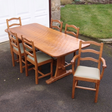 Alan 'Acornman' Grainger 6' Dining Table and 6 Chairs