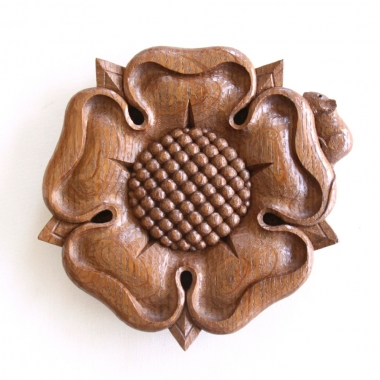 Robert 'Mouseman' Thompson Stan Dodds Carved Oak Tudor Rose