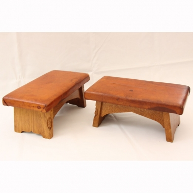 Robert 'Mouseman' Thompson Oak Pair of Footstools / Kneelers
