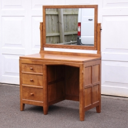 Peter 'Rabbitman' Heap Oak Dressing Table with Mirror
