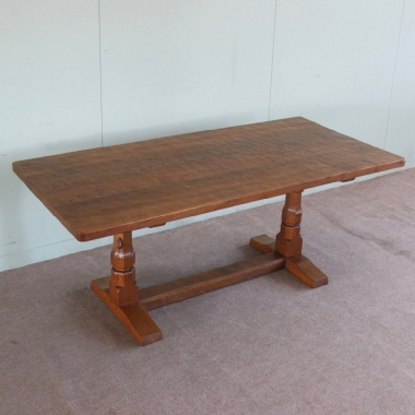 Robert 'Mouseman' Thompson 6' Dowelled Top Oak Dining Table