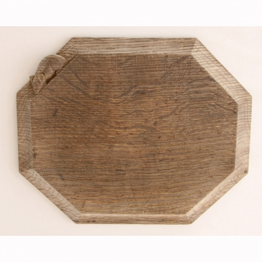 "Robert 'Mouseman' Thompson, Oak 12"" Bread Board"