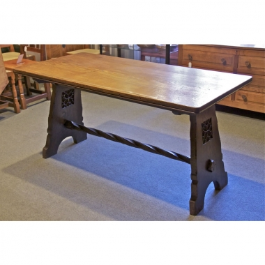 Liberty & Co, London 5' Fumed Oak Centre Table