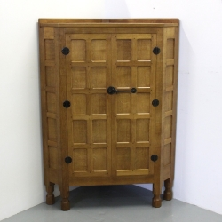Robert Thompson 'Mouseman' Large Oak Corner Cupboard