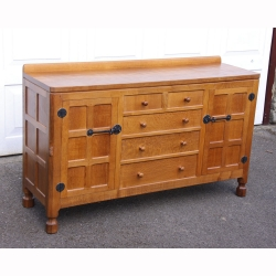 Robert Thompson 'Mouseman' 5' Oak Sideboard