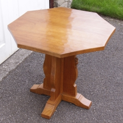 Colin ' Beaverman' Almack Oak Octagonal Coffee Table