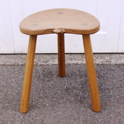 "Robert Thompson 'Mouseman' Oak 18"" Cow Stool"