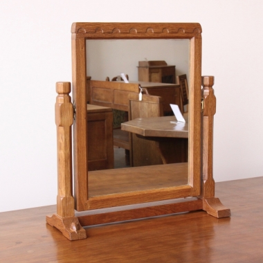 Robert 'Mouseman' Thompson Oak Dressing Table Mirror
