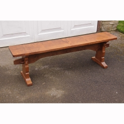 Robert Thompson 'Mouseman' Oak 5' Bench Seat