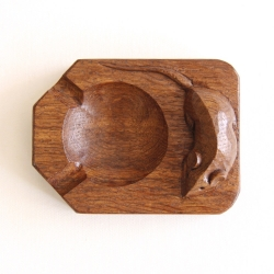 Robert 'Mouseman' Thompson Oak Ashtray