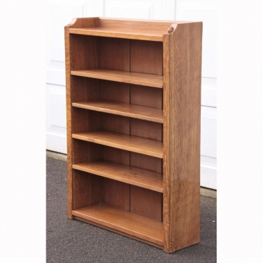 Robert Thompson 'Mouseman' 4' Adzed Oak Bookcase
