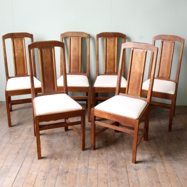 Stanley Webb Davies Set of 6 Oak Dining Chairs
