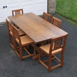 Robert 'Mouseman' Thompson, 6' Oak Refectory Dining Table