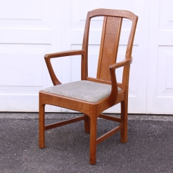 Stanley Webb Davies Arts and Crafts Cotswold School Oak Armchair