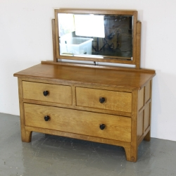 'Acornman' Alan Grainger, Oak Dressing Table with Mirror / Low Chest of Drawers