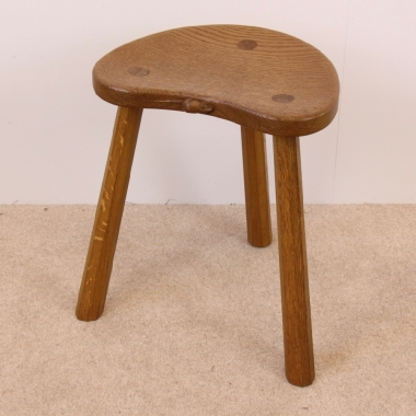 Mouseman Robert Thompson Cow Stool