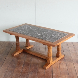 Derek 'Fishman'Slater  Marble Inset Oak Coffee Table