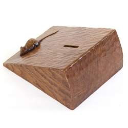 Robert 'Mouseman' Thompson Oak Cheese Wedge Money Box