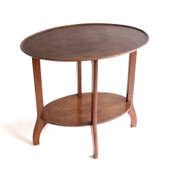 Arthur W Simpson of Kendal Oak Oval Occasional Table