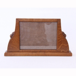 Robert 'Mouseman' Thompson Craftsman's Rare Oak Photo Frame