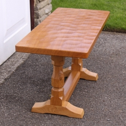 Robert Thompson 'Mouseman' Oak 3' Coffee Table