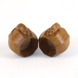"Robert 'Mouseman' Thompson Pair of Early 1 1/2"" Oak Napkin Rings"