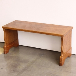Alan 'Acornman' Grainger Bespoke Oak Bench