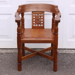 Robert Thompson 'Mouseman' Bespoke Vintage Oak Monks Chair