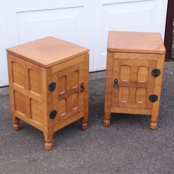 Sid Pollard Pair of Oak Bedside Cabinets