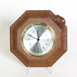 'Mouseman' Robert Thompson Oak Quartz Wall Clock