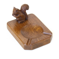 Squirrelman Wilf Hutchinson Oak Ashtray
