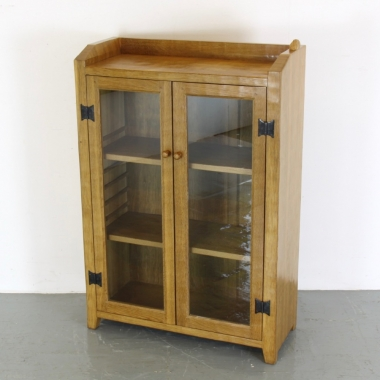 'Rabbitman' Peter Heap, Glazed Oak Bookcase
