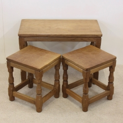Sid Pollard Oak Nest of 3 Tables