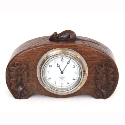 Robert 'Mouseman' Thompson Early Oak Clock