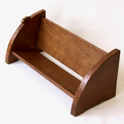Robert 'Mouseman' Thompson Vintage oak Book Trough