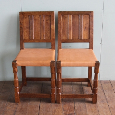 Sid Pollard Pair of Oak Side / Dining Chairs