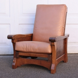Robert Thompson 'Mouseman' Rare Early Oak Reclining Reading Chair