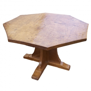 Wilf 'Squirrelman' Hutchinson  Oak  4' Octagonal Dining Table