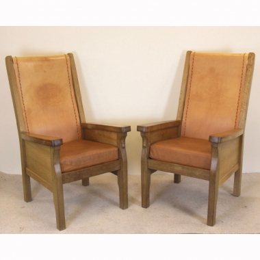 Robert 'Mouseman' Thompson Smoking Chairs