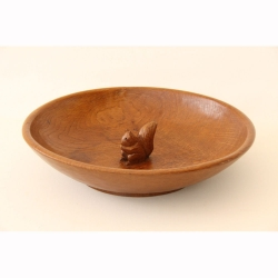 "Wilf 'Squirrelman' Hutchinson Oak 12"" Fruitbowl"