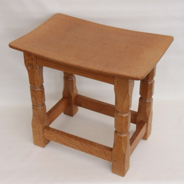 Malcolm Pipes 'Foxman' Oak  Dished Top Stool