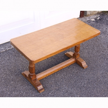 "Wilf Hutchinson 'Squirrelman' Early Oak 2'6"" Coffee Table"